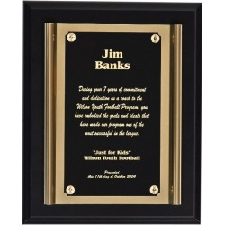 Black Matte Finish Plaques PL803