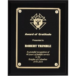 Black Matte Finish Plaques PL805