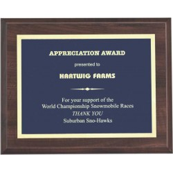 Cherry Finish Plaques PL1702