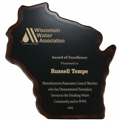 Wisconsin Shaped Plaque PL1307