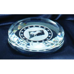 "3 1/2"" Crystal Paperweight"