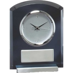 Smoked Glass Clock Executive Awards