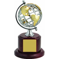 Metal Globe on Rosewood Base Executive Awards