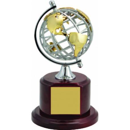 Metal Globe on Rosewood Base Executive Awards