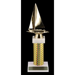 Gold Carbon Fiber Trophy T-3206